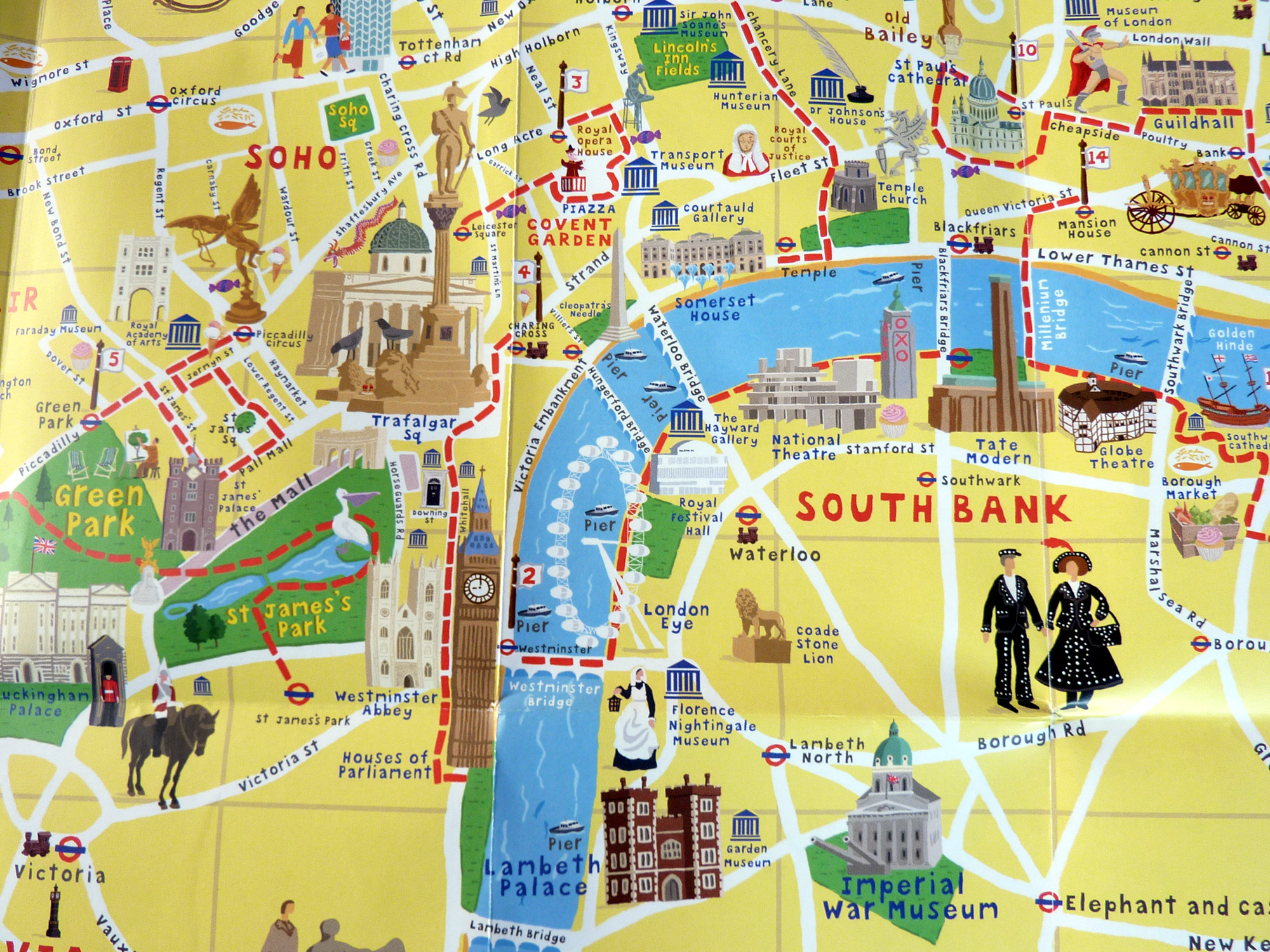 Map Of Sights In London – London Tourist Maps